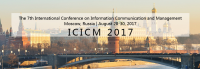 2017 The 7th International Conference on Information Communication and Management (ICICM 2017) - Ei and Scopus