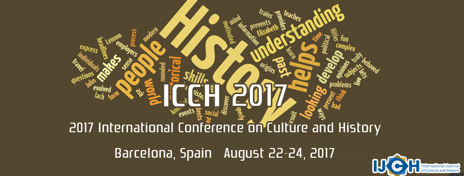 2017 International Conference on Culture and History (ICCH 2017), Barcelona, Cantabria, Spain
