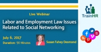 Labor and Employment Law Issues Related to Social Networking