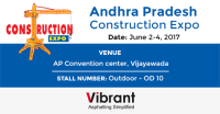 Vibrant Construction Equipments Pvt Ltd at AP Construction Expo 2017