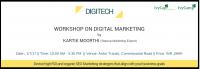 """Digital Marketing Workshop For Startups – """"Digitech"""" By Karthik Moorthi"""